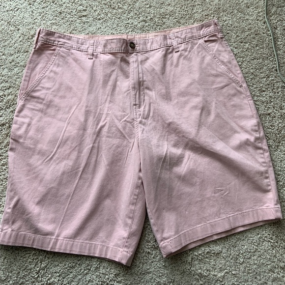 "NEW George MENS STRETCH FLAT FRONT SHORTS 10/"" Inseam Above Knee NWT"